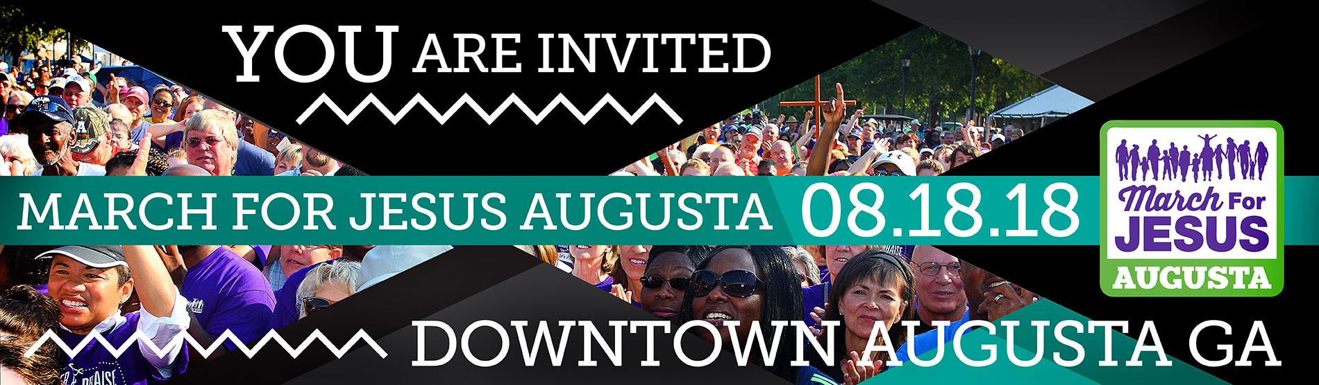 2018 Banner   March For Jesus Walk - Augusta 2017