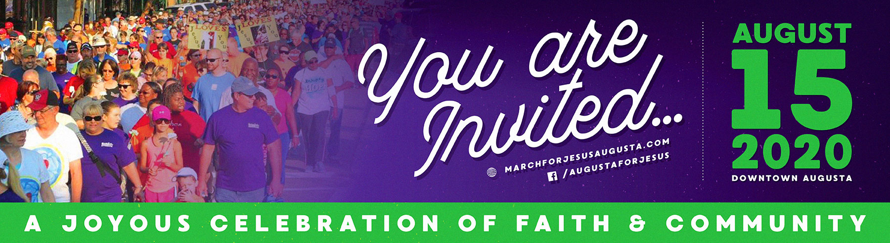 2019 Banner | March For Jesus Walk - Augusta